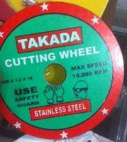 Jual Batu Gerinda Takada Potong Stainless Steel 4 Inch Tipis 1 Mm