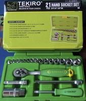 Jual Tool Kit Hand Socket Set 21 Kunci Shock Merk Tekiro Kotak Perkakas