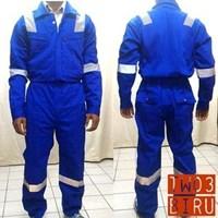 Jual Pakaian Safety Teamwork Tw03 Coverall Tebal Biru - Wearpack