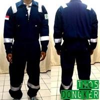 Jual Pakaian Safety Teamwork Tw05 Coverall Anti Api Dongker - Wearpack