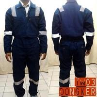 Jual Pakaian Safety Teamwork Tw03 Coverall Tebal Dongker - Wearpack
