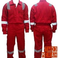 Jual Pakaian Safety Teamwork Tw03 Wearpack Coverall Super Big Size - Merah