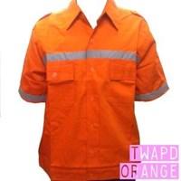 Jual Pakaian Safety Teamwork Tangan Pendek Scotlight - Orange