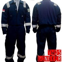 Jual Pakaian Safety Teamwork Tw05 Wearpack Coverall Baju Kerja Anti Api - Dongker