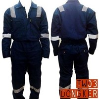 Jual Pakaian Safety Teamwork Tw03 Wearpack Coverall Super Big Size - Dongker