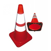 Jual Floor Sign Traffic Cone Krisbow 70Cm Height Orange Pvc Kw1000477