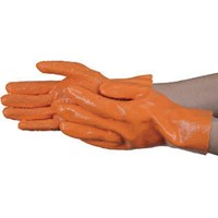 Sarung Tangan Safety Trusco Slip-Proof Thick PVC Gloves (Lined) TPVAGL Orange