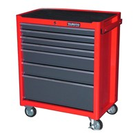 YAMOTO Roller Cabinet Red 7drawers