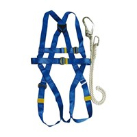 Jual Harness Kw1000438 Krisbow Full Body Harness With Lanyard