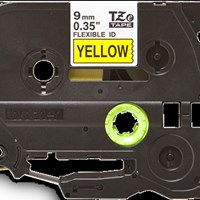 Jual Brother Flexible Tape TZE-FX621 Black on Yellow 9mm