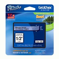 Jual Brother Tape TZE-131 Black on Clear 12mm