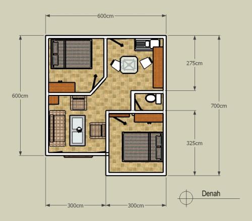 Desain Rumah Tipe 36 123 Minimalis Terkesan Tidak Menarik Terbatas