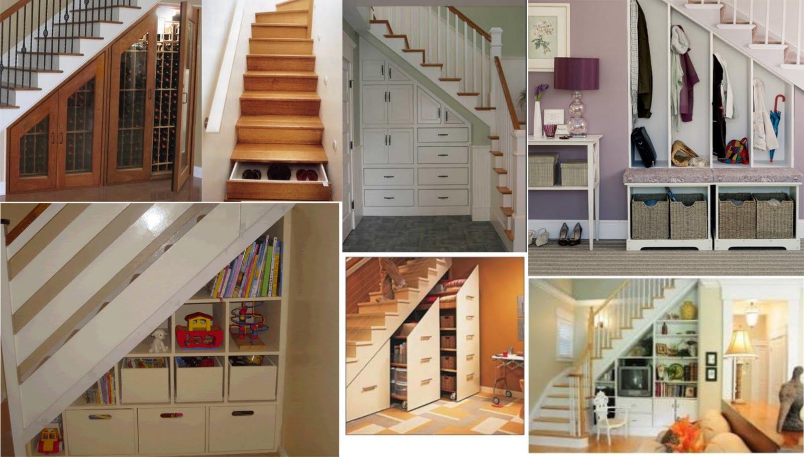 memanfaatkan ruang kosong di bawah tangga | rumah 123