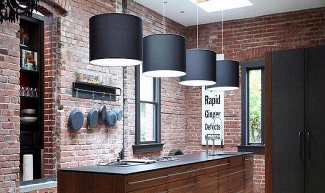 Desain Dapur Minimalis Modern Dengan Batu Bata Ekspos Rumah 123