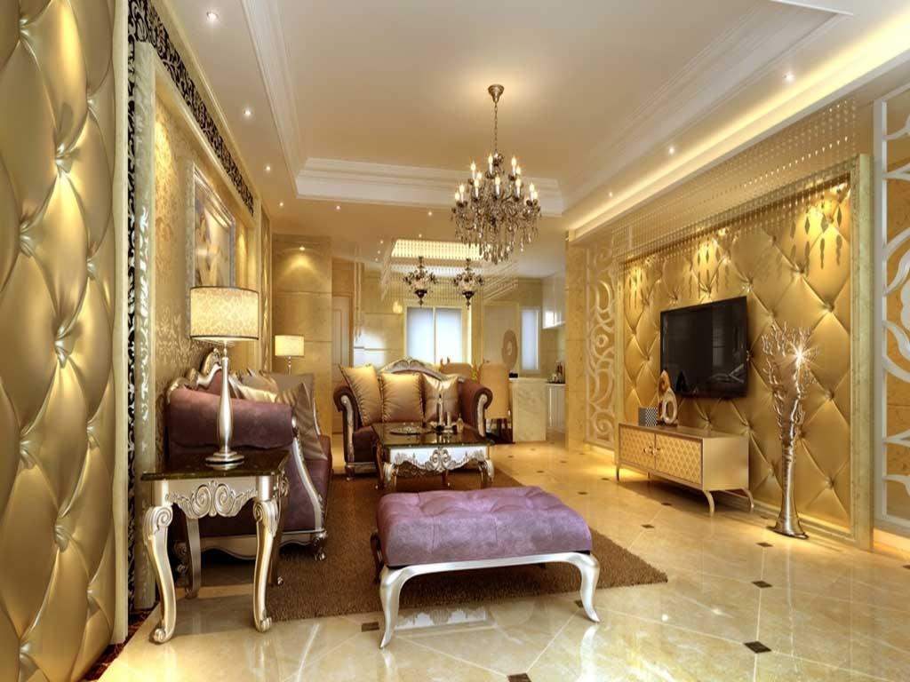 Ruang Tamu Klasik Nan Mewah Rumah 123