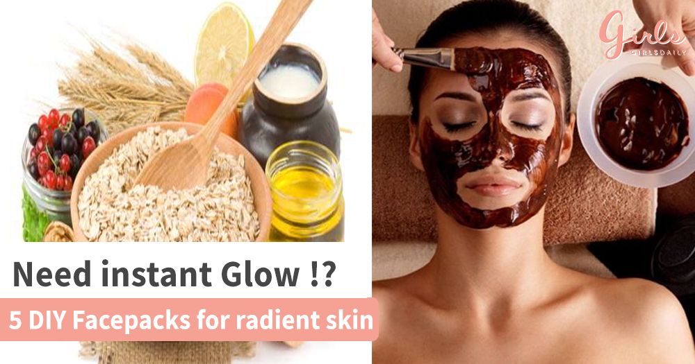 5 DIY Face packs for instant Glow!