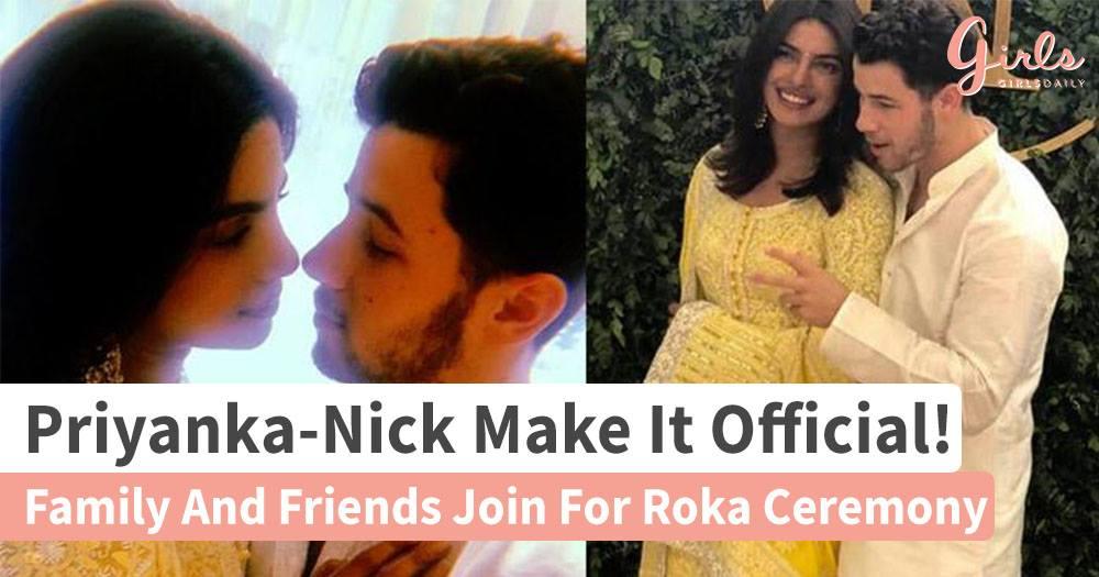 Priyanka-Nick celebrate Roka with Family, It's official now!