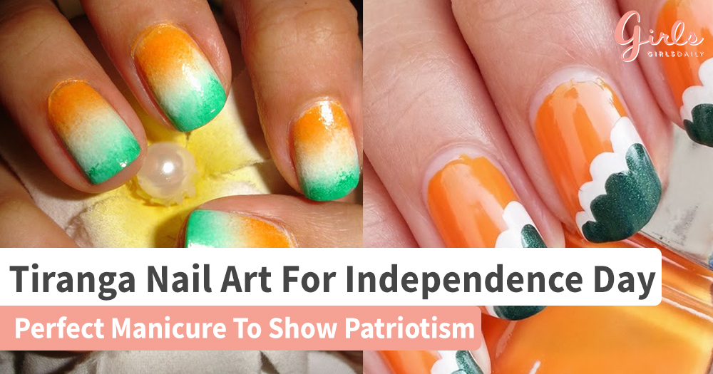 Feel Patriotic With These Tricolour Nail Art Designs On This Independence Day