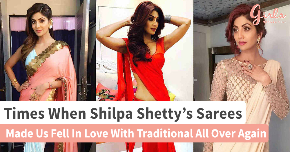 13 Saree Style Trends For 2018 We Can Learn From Shilpa Shetty Kundra