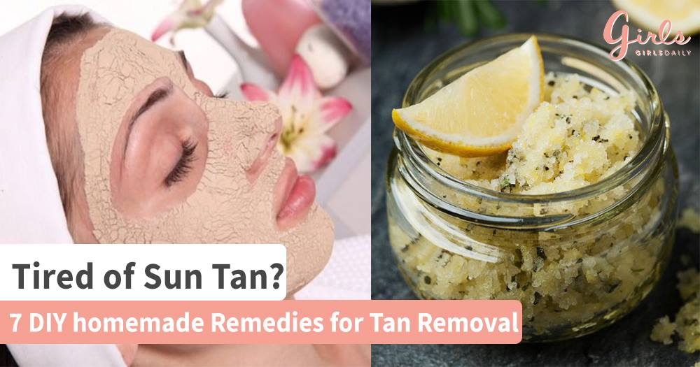 DIY Homemade remedies for Tan Removal