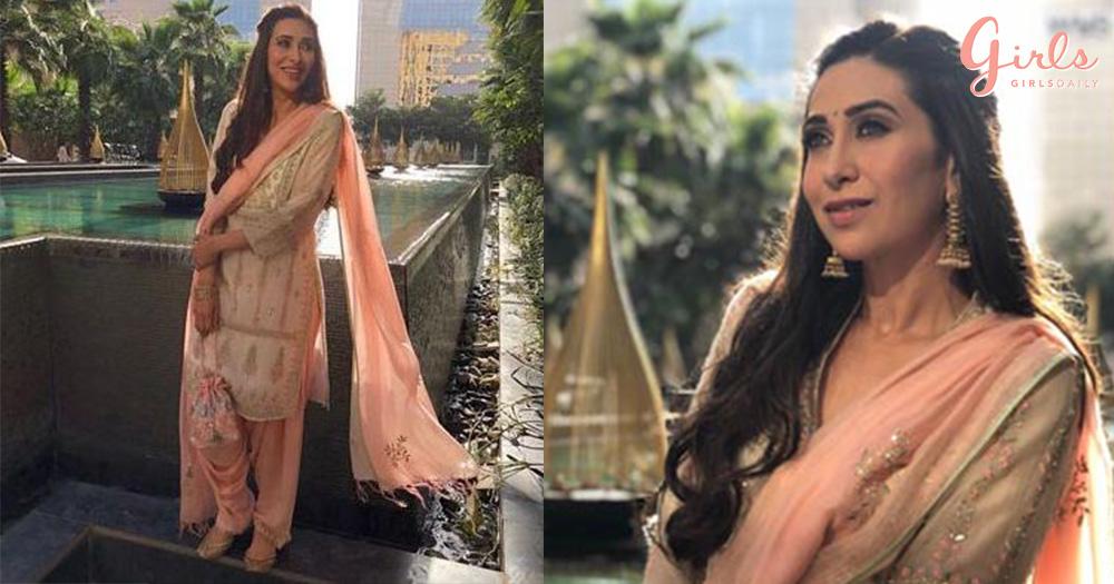 Karisma Kapoor Looks Like A Dream In Salwar-Kameez For Janmashtami Celebrations