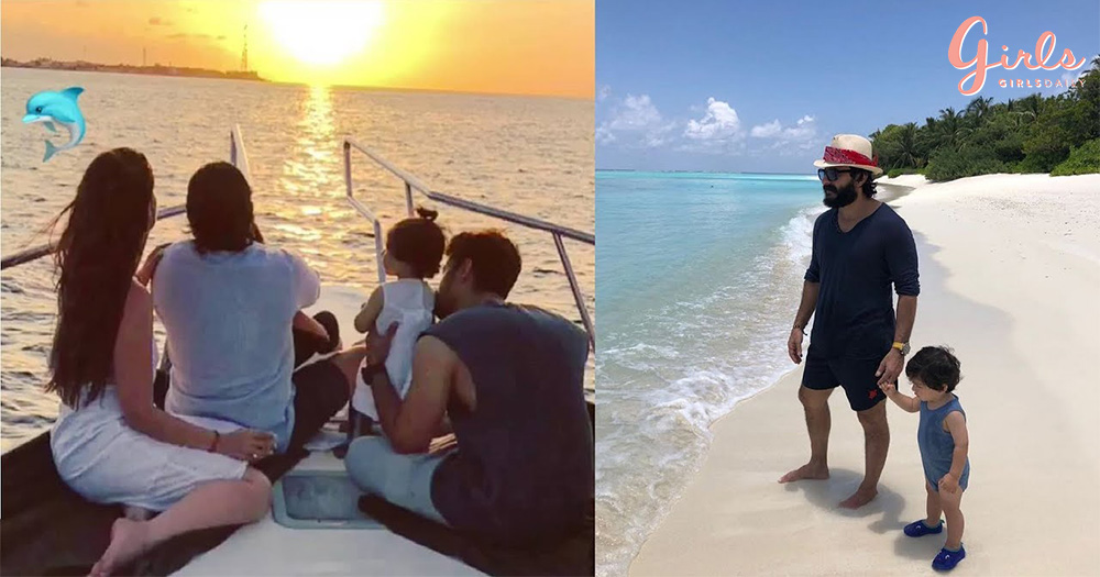 Taimur, Inaaya & Family Continue Holidaying In Maldives!
