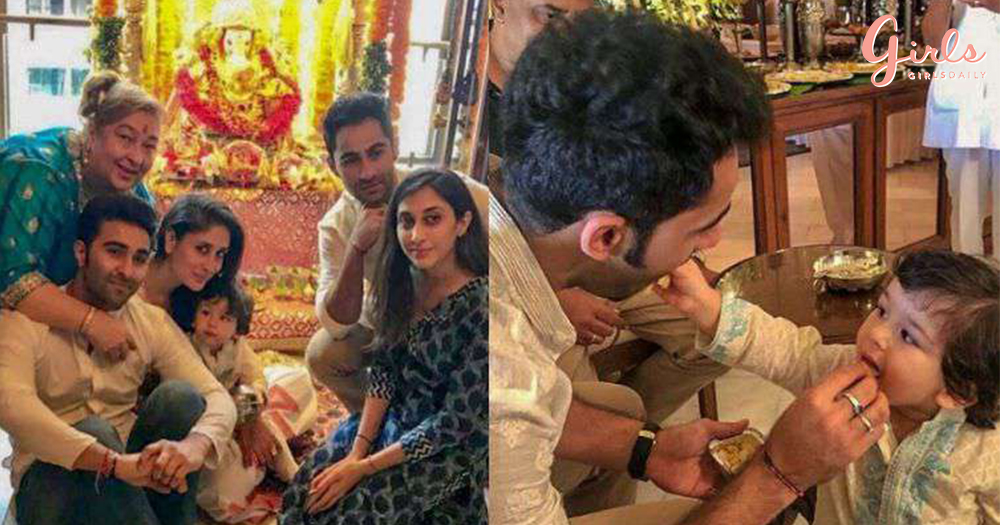 Taimur's Day Out In Kurta-Pyjama For Ganesh Pooja Is The Cutest Thing You'll See This Weekend