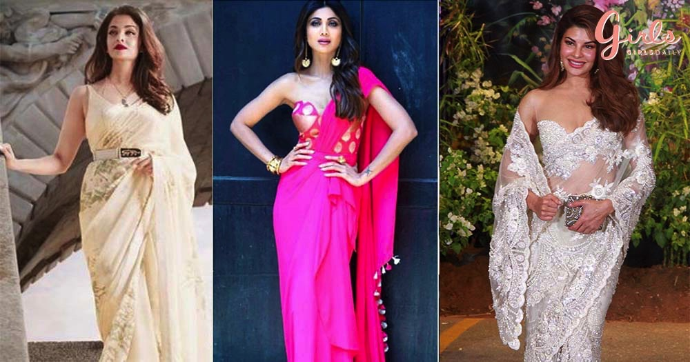 Unconventional Trendy Ways Of Draping Sarees!!