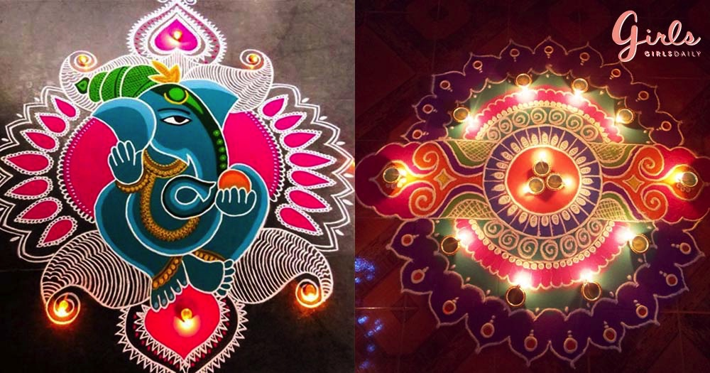 21 Different Rangoli Designs For This Diwali Celebrations