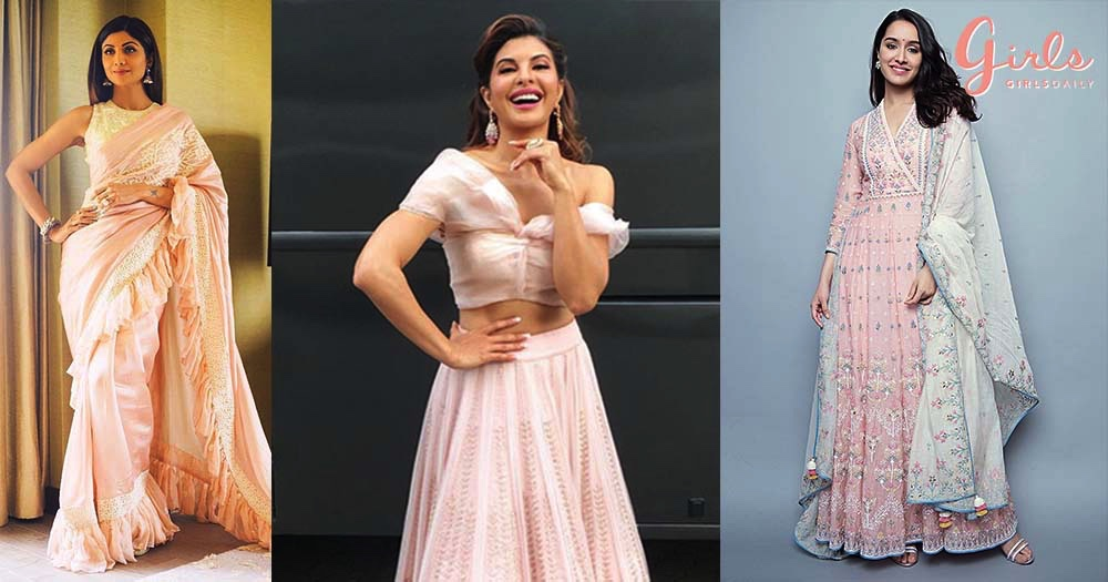 #HotTrends: 12 Traditional Fashion Looks In The Pretty Shade Of BLUSH PINK