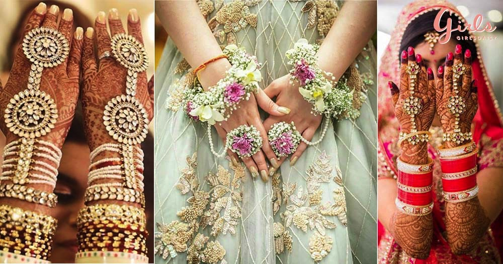 7 Elegant types of HAATH PHOOL designs for the Brides-to-be