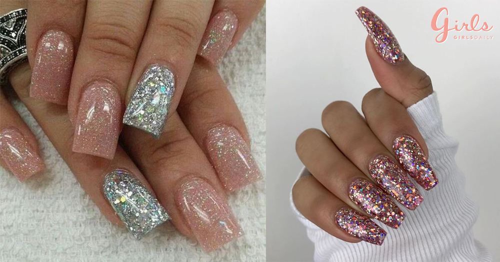 11 Fabulous Ways To Wear Glitter Nails Like A Boss Babe