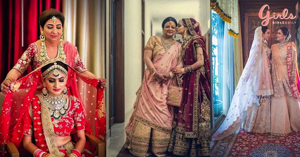 15 Bride & Mom Poses For Wedding Photoshoot