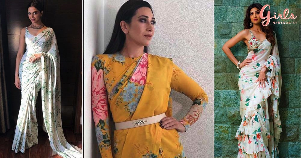 10 Gorgeous Floral Saris That Are Perfect For All Your Daytime Events