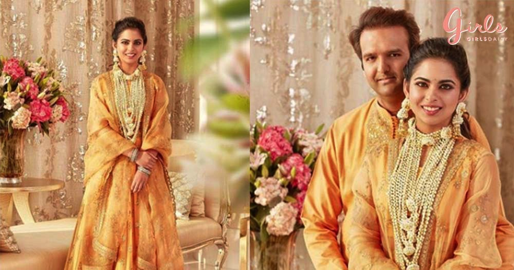 New Photos From Isha Ambani and Anand Piramal's Haldi Ceremony Are Finally Out