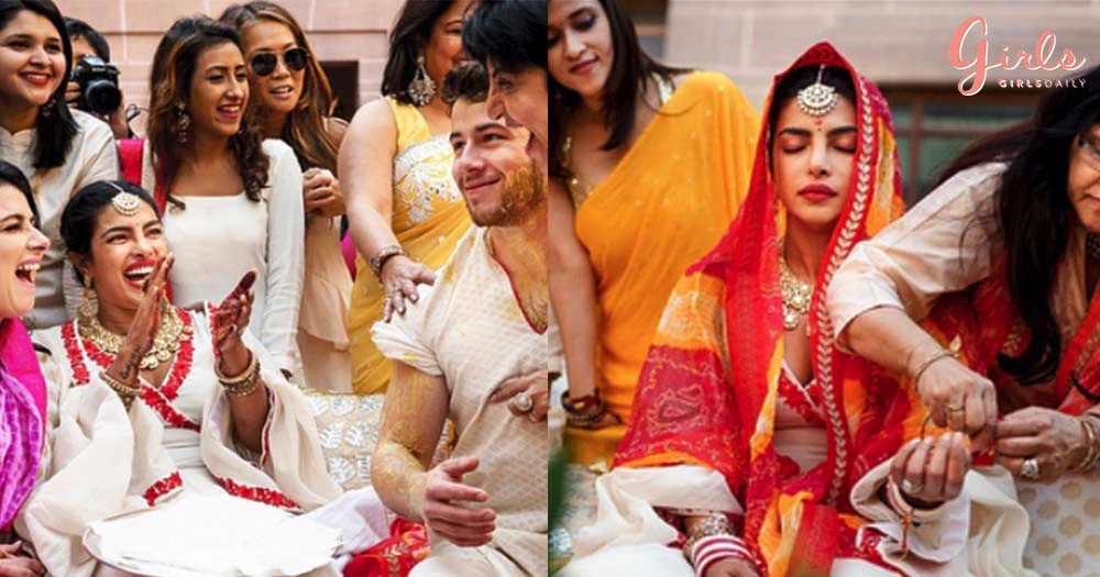 These New Photos Of Priyanka & Nick From Their Haldi And Chooda Ceremony Will Make Your Day!