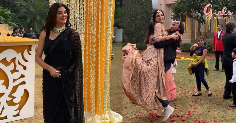 Sushmita Sen Was The Perfect *Shaadi Guest* At Her Nephew's Wedding In Delhi