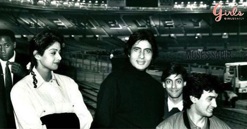 Big B Shares An Unseen #TB Picture From His Concert Along With Sridevi, Salman & Aamir