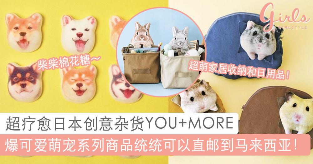 可爱到让人窒息!超疗愈日本创意杂货YOU+MORE,每一款萌宠产品都会萌入你心底!