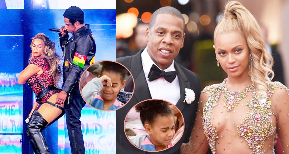 Even Beyonce Embarrasses Her Child! Blue Ivy Hides Herself During Parent's PDA, She Is Adorable~