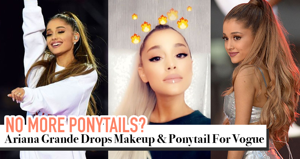 Ariana Grande Drops Her Ponytail For Vogue And She's Unrecognisable!