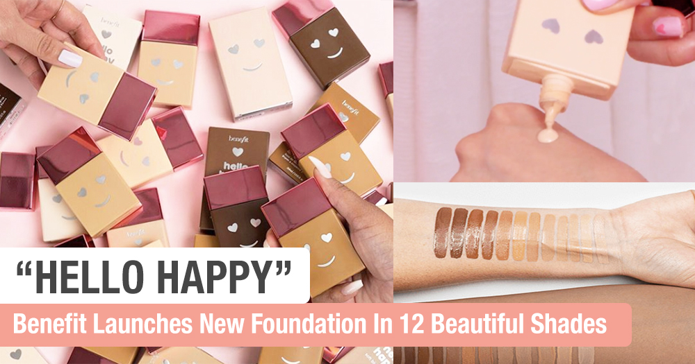 Benefit Launches Latest 'Hello Happy' Foundation In 12 Shades