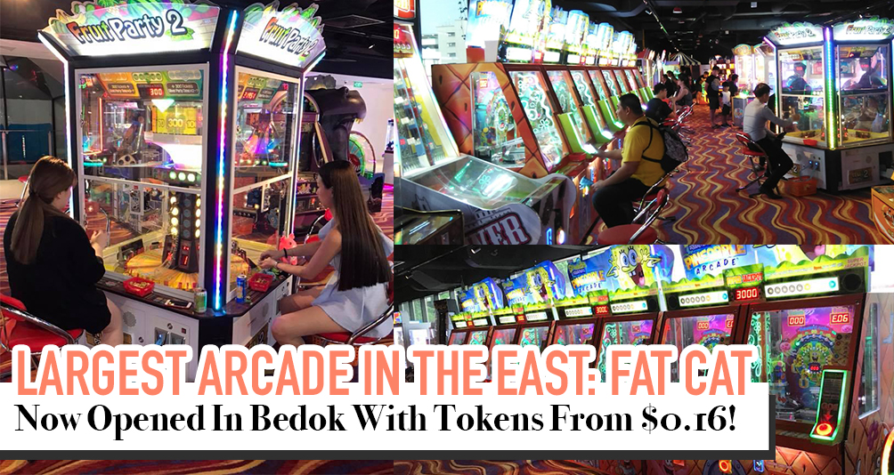 Largest Arcade In The East: Fat Cat Amusement Centre. OPEN NOW!
