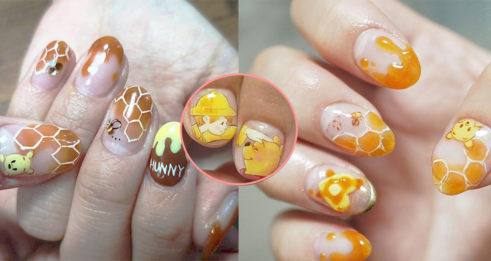 Here's 14 Cute Winnie-the-Pooh Nail Designs You Can Recreate In Your Next Manicure!