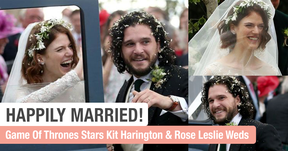 Everyone's Favourite Game Of Thrones Couple Kit Harington & Rose Leslie Finally Tied The Knot!