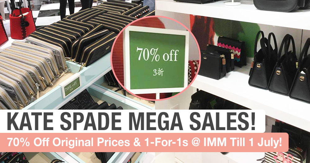 70% Off Kate Spade Products @ IMM Mega Sales From Now Till 1 July!