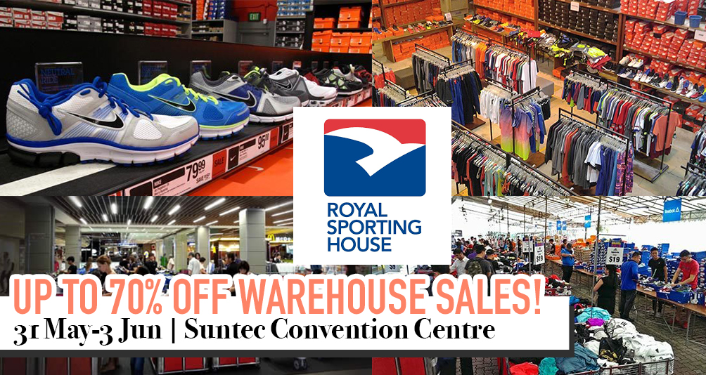 Enjoy Up To 70% Off At The Royal Sporting House Warehouse Sales from Now Till 3 June!