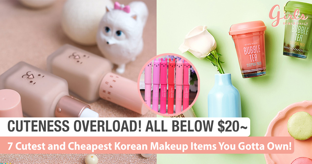 7 Cutest and Cheapest Korea Makeup Items You Gotta Own (Below $20)