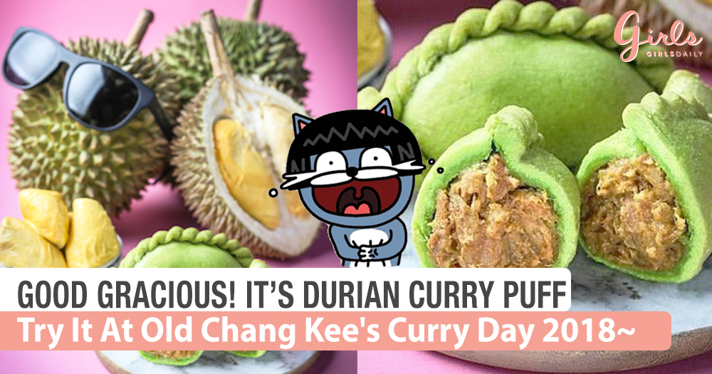 OMG! Durian Curry Puffs @Old Chang Kee's Curry Day 2018