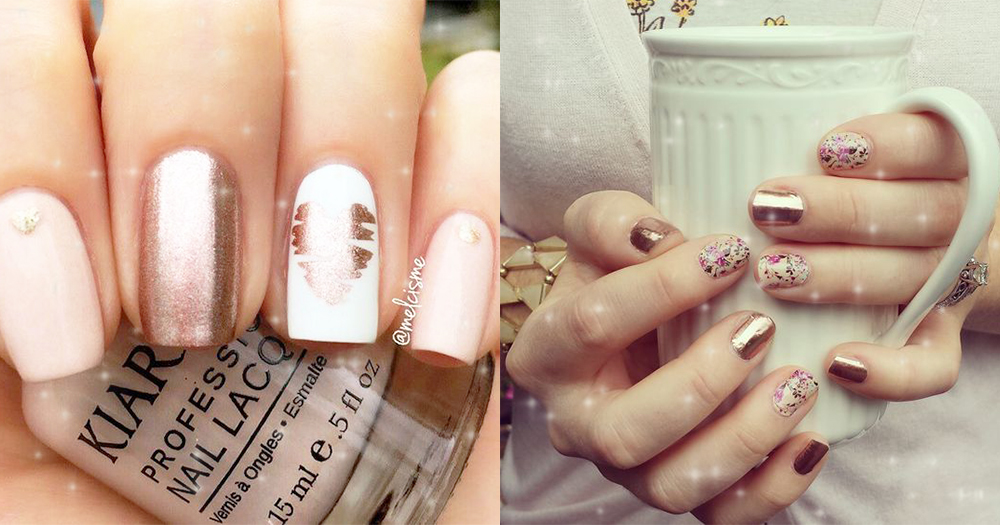 16 Rose Gold Nails For Your Next Big Event!